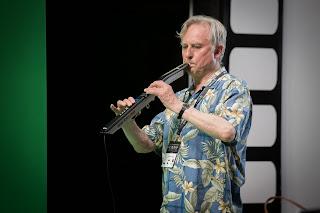 Dawkins playing music