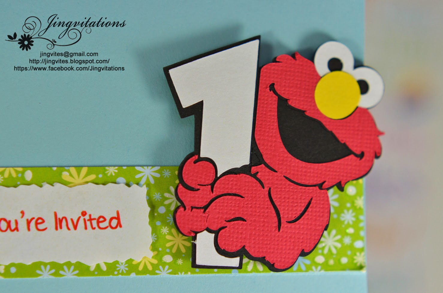Jingvitations: Elmo Baby Cards Shower Birthday Party Invitations