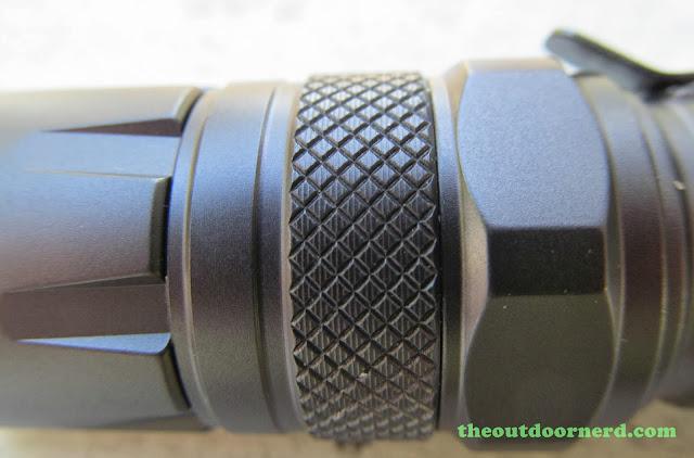 Nitecore SRT3 Defender EDC Flashlight: Closeup Of Control Ring