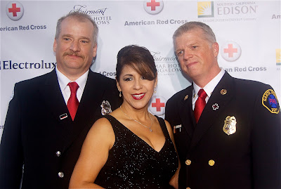 Dept. Chief Bruce Davis, Maria & Scott Fergusun Fire Chief of the Santa Monica Fire Department