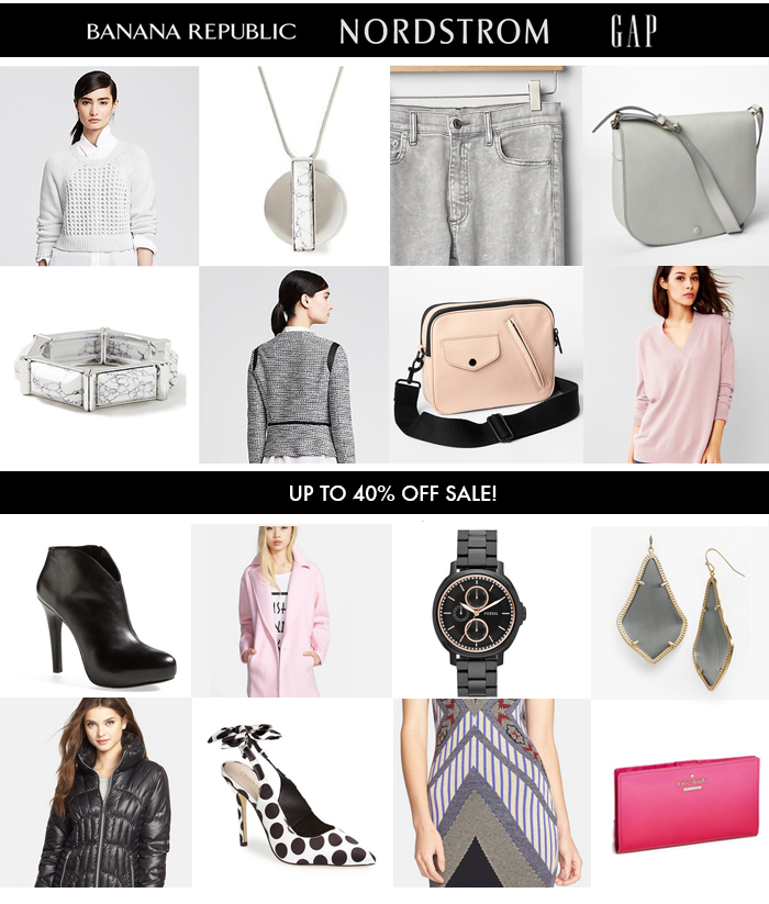 Nordstrom sales, President's day sales, banana republic, kate spade, gray trend, what to wear spring