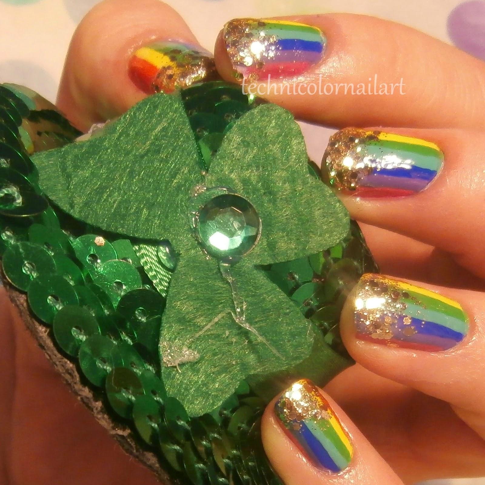 Technicolor Nail Art: Happy St. Patrick\'s Day!