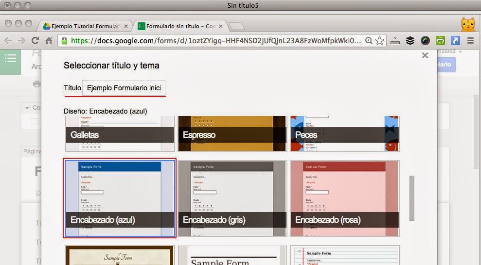 Blogger y Google Drive Formularios | iniciaBlog - Te ayuda con ...