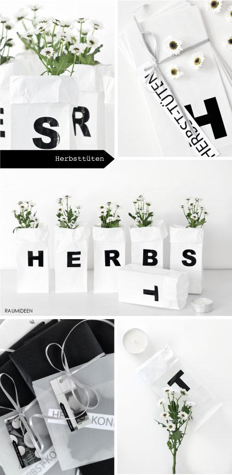 Buchstabentüten - Lichtertüten für den Herbst!