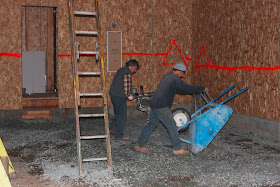 Homecrunch how to build a better garage floor that for Floating slab foundation cold climates