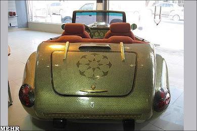 خودرو خاتم کاری شده توسط هنرمندان شیرازی