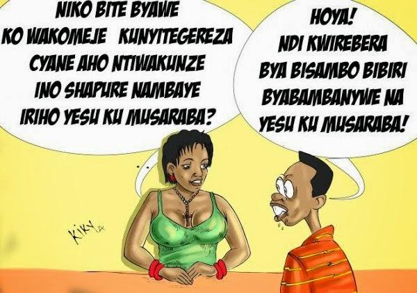 Urwenya mu mafoto: Abatihangana amaso azabavamo bitegereza abakobwa babareshya