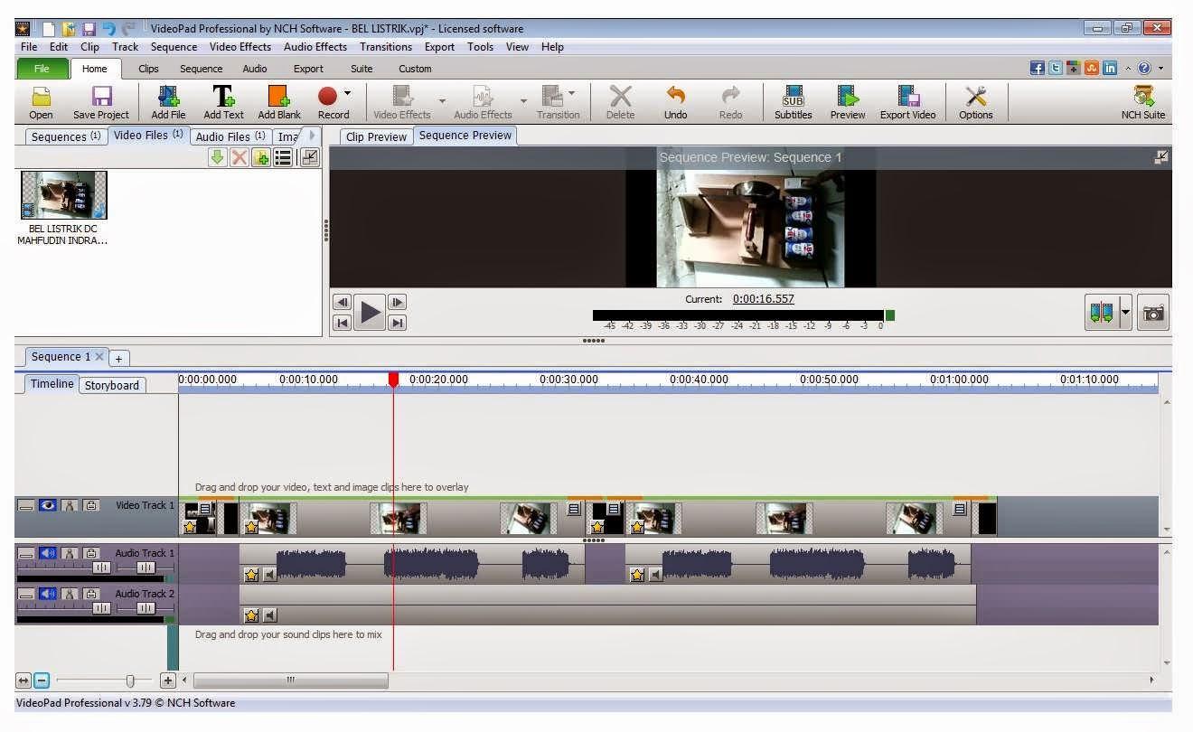 Cara memberi logo (watermark) di video dengan videopad