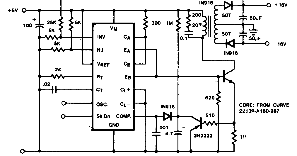 electrinic and circuit  flyback converter circuit diagram