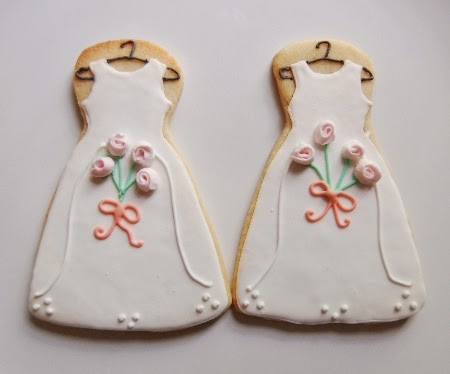 bridesmaid dress cookies