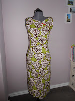 Butterick 6582 in green print