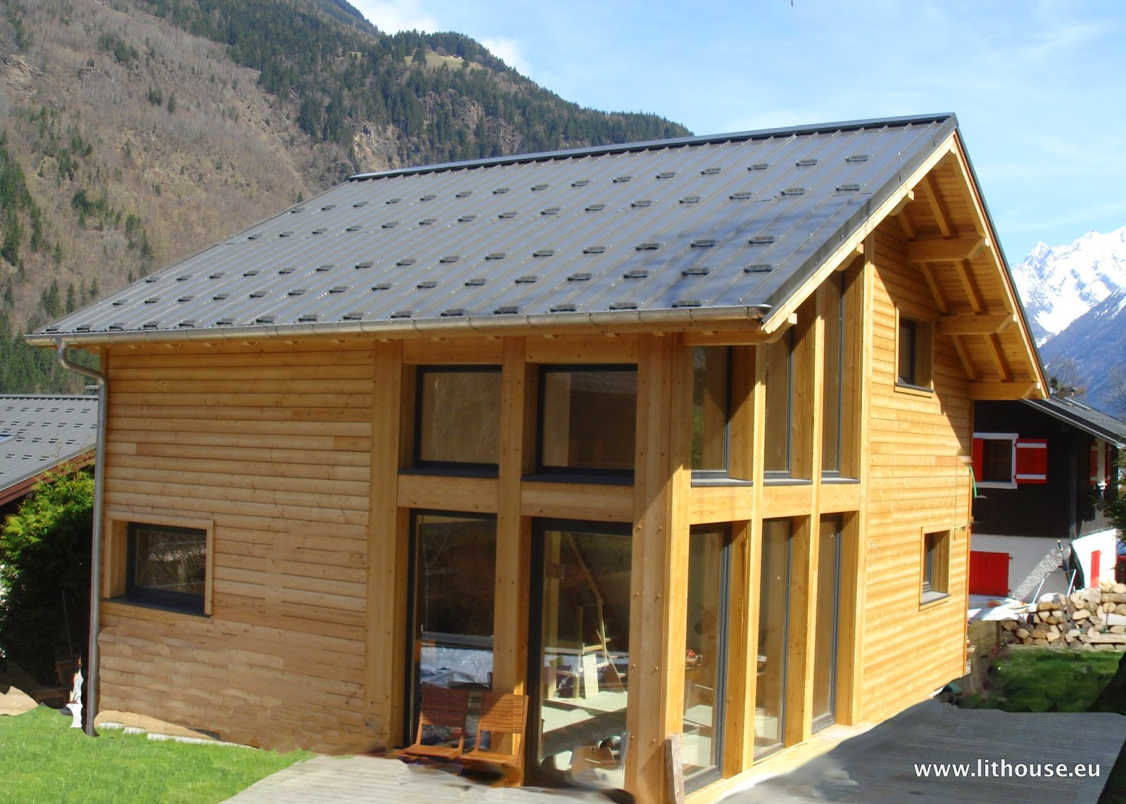 building eco wooden house chalet construction