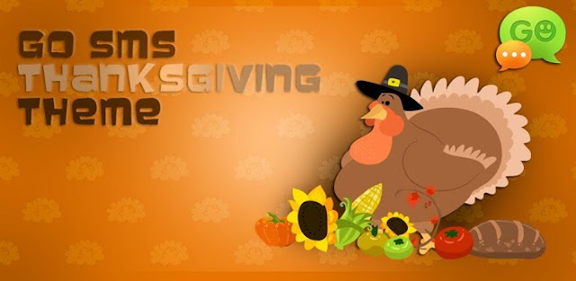 Android GO SMS Thanksgiving Theme