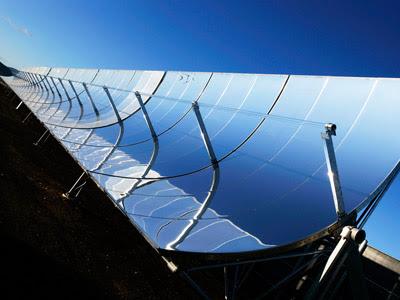 los espejos solares para producir energia