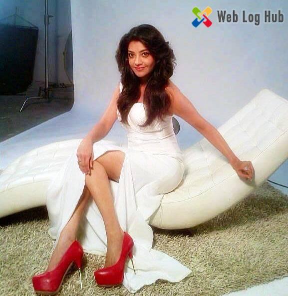 Sexy Actress Kajal Agarwal Hot Boobs and Thighs in an Angel Dress - Web Log Hub