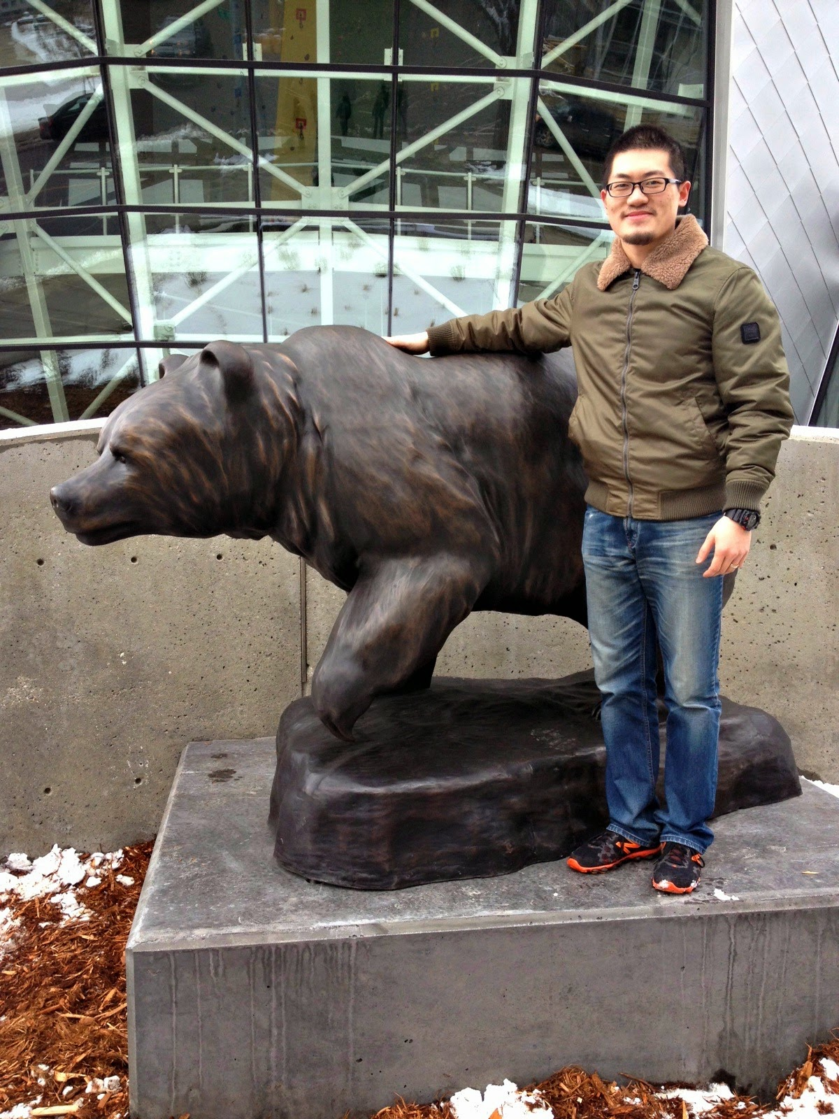 Standing with the UAlberta Alberta Bear