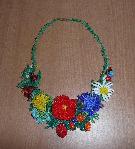 Beaded Necklace From Ukraine