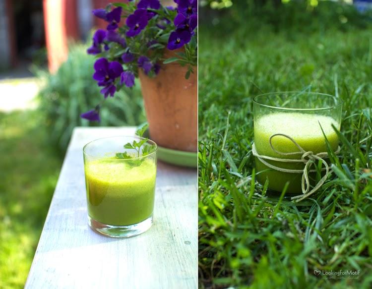 zielony koktajl, DIY, natka pietruszki, pomarańcza, food, eko napój