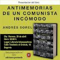 """Ciclo""""Lectura y Compromiso""""Andrés Sorel"""