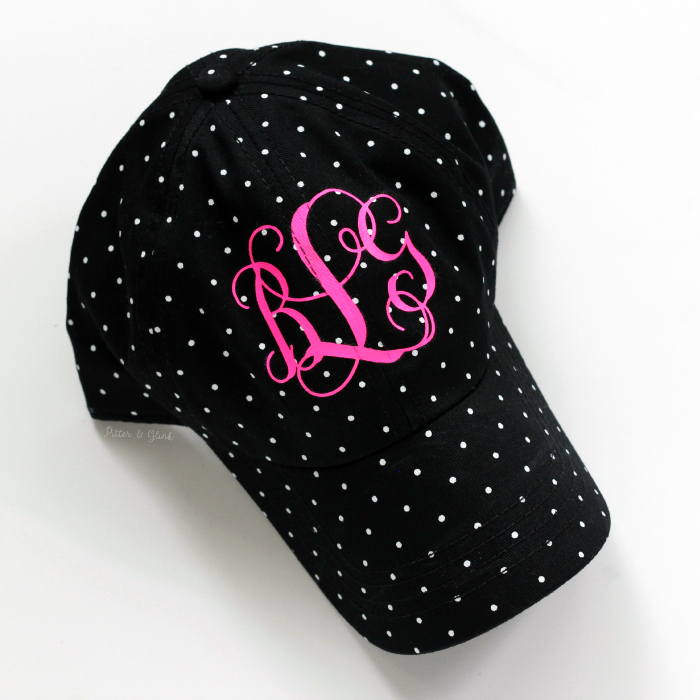 monogrammed baby baseball cap diy monogram make hat plain heat transfer vinyl seersucker