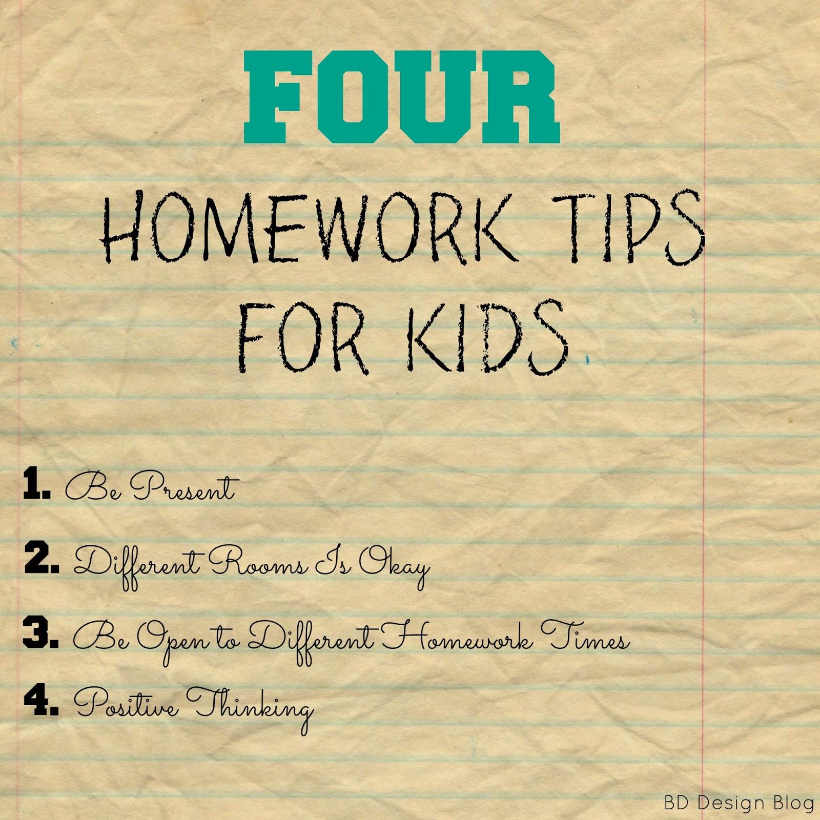homework for kids