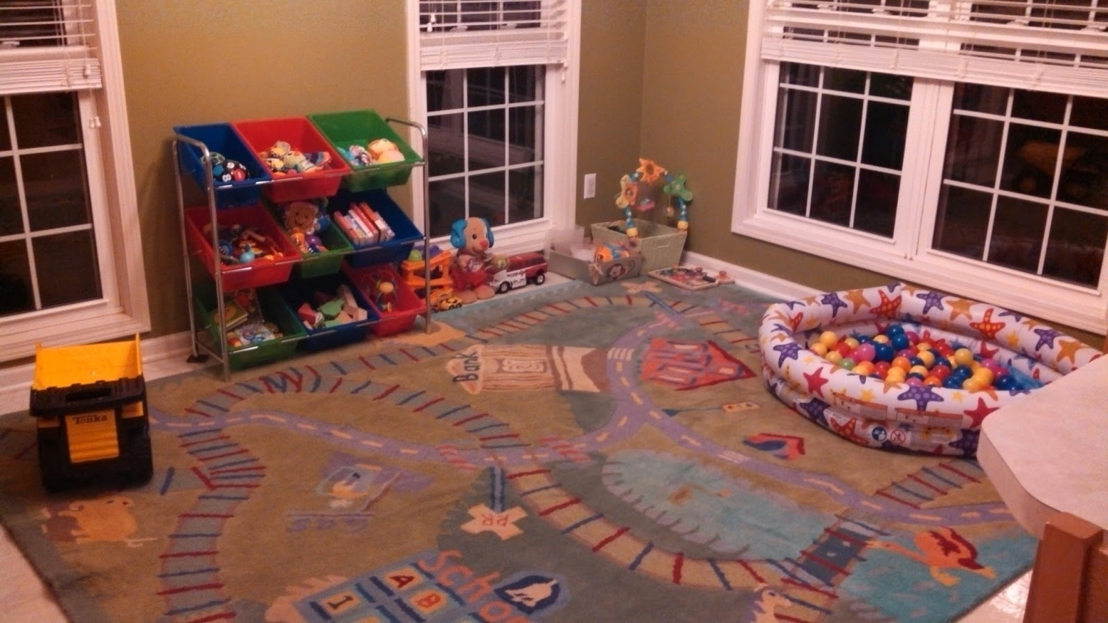 Pottery Barn Kids Train Rug