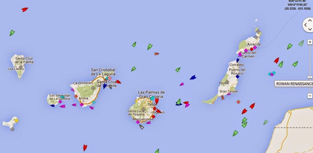 Marine Traffic - El tráfico marítimo en tiempo real