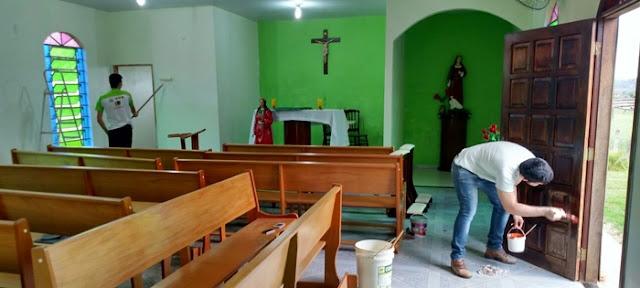 Iretama: Cursilhistas se dedicam na revitalização da Capela Santa Luzia