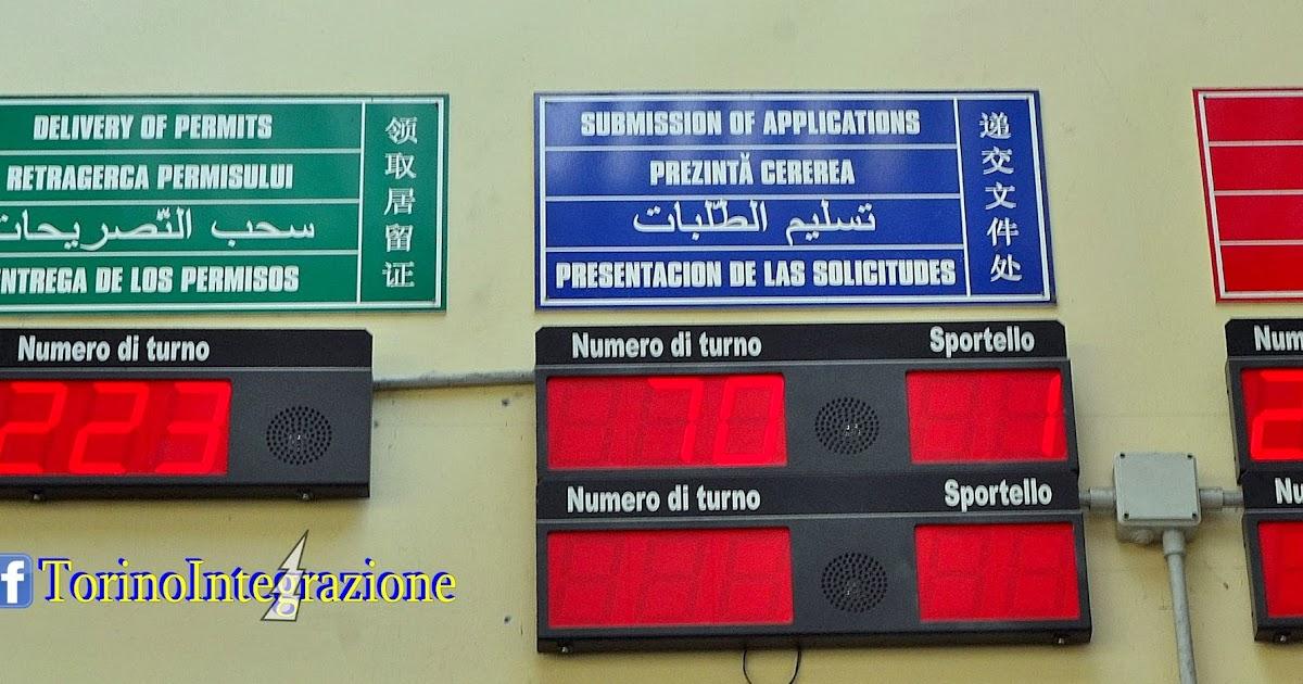 Torino integrazione permesso di soggiorno for Controlla permesso di soggiorno poste