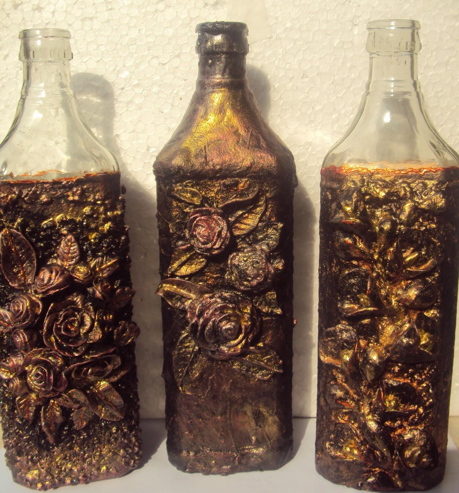 Aesthetics In Art And Design A Set Of ThreeAltered Bottles Tutorial