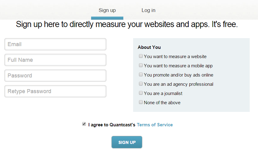 Add Quantcast to WordPress