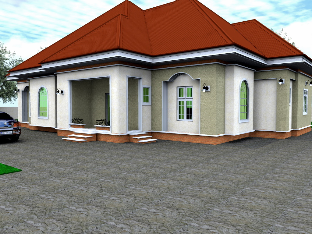 Residential homes and public designs 3 bedroom bungalow for Bangalo design