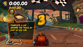 Download Crash Tag Team Racing PPPSSPP ISO Full Version ZGASPC