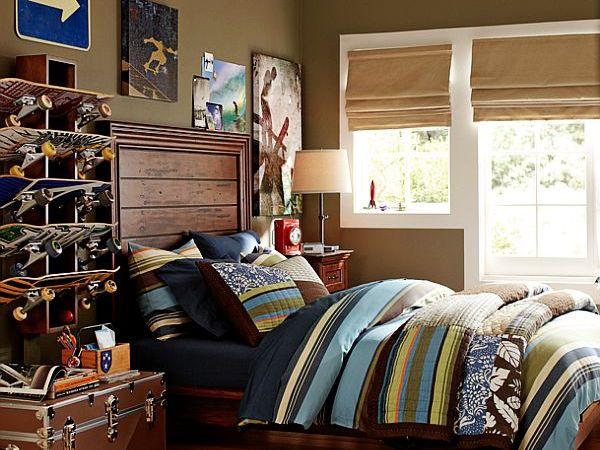 Bedding for teen girls teenage boys rooms inspiration for Boys skateboard bedroom ideas