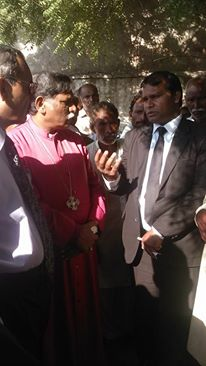 Sardar Mushtaq Gill human rights defender with Bishop of Lahore
