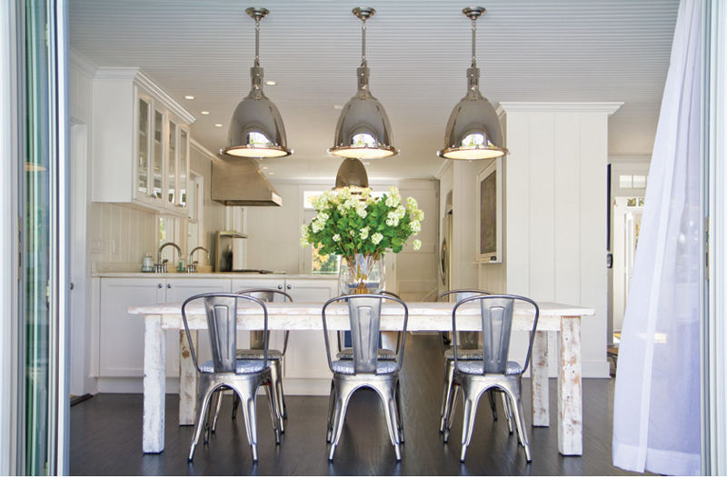 Hampton Style Kitchen and Dining Rooms