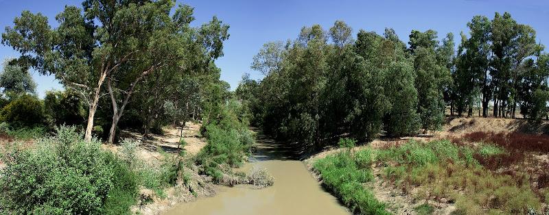 Vista del cauce del Guadalete desde el puente de La Greduela (julio 2011)