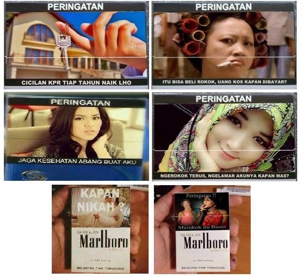 Gambar parodi peringatan rokok
