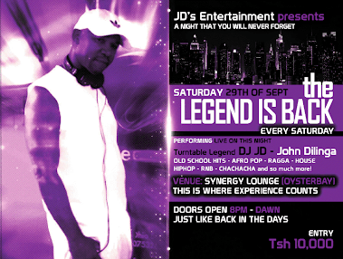 THE LEGEND IS BACK DJ JD