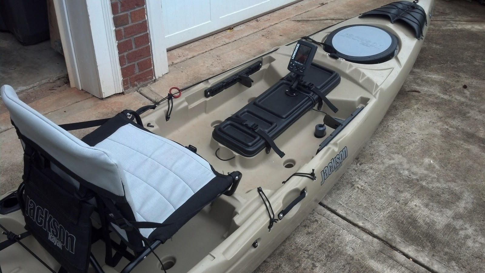 Georgia kayak fishing installing a fish finder on a kayak for Fish finder on kayak