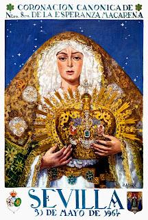 Sevilla - Cartel de la Coronación Canónica de la Macarena - 31 de mayo de 1964