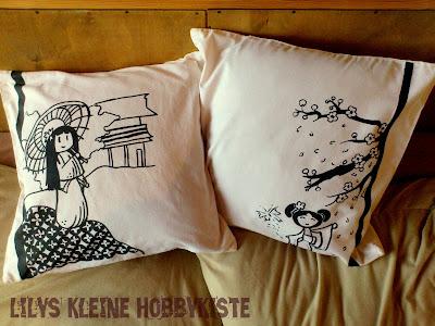 lilys kleine hobbykiste kokeshi kissen. Black Bedroom Furniture Sets. Home Design Ideas