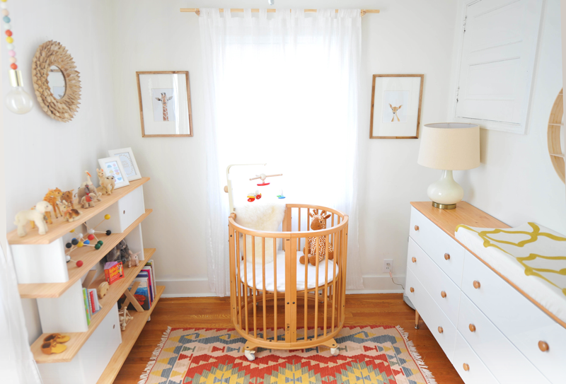 Modern Colorful Baby Girl Nursery Tour Reveal