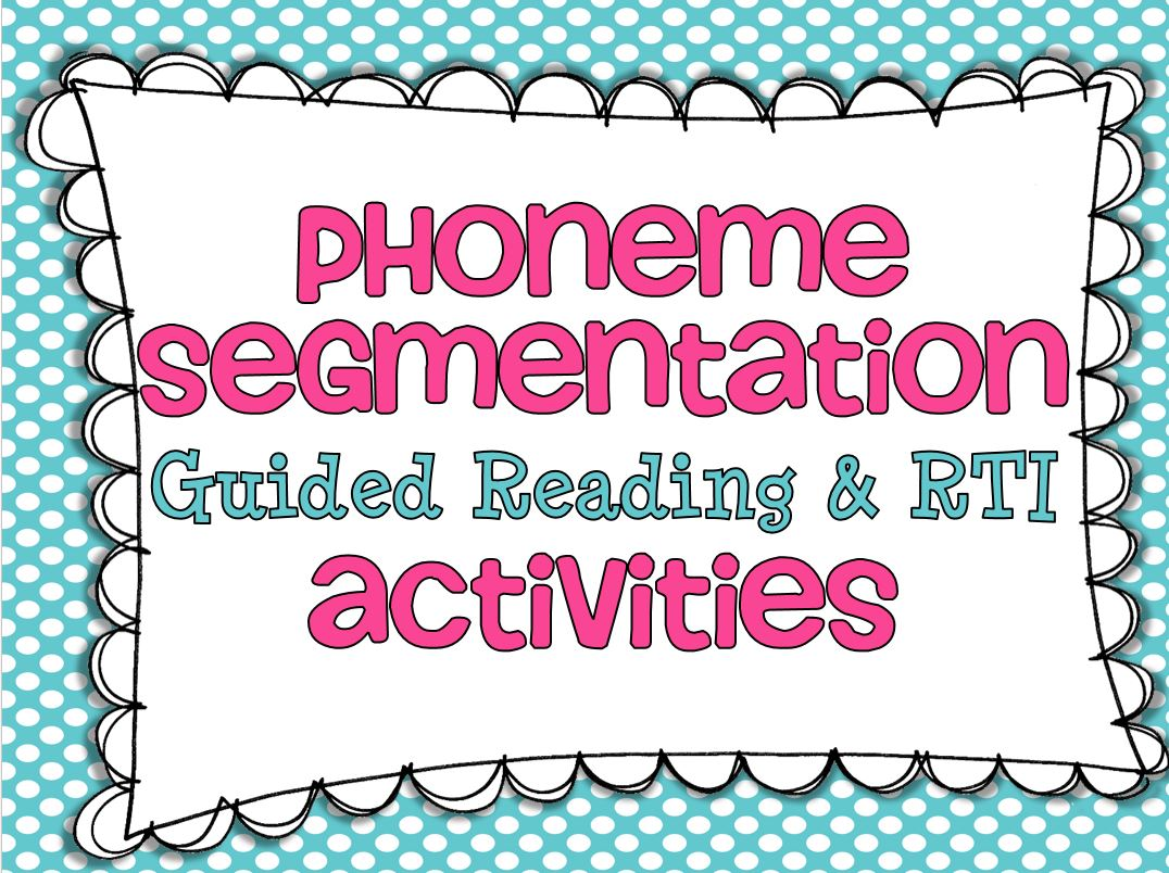 Phoneme Segmentation Worksheet 2 by SLP Creations | TpT