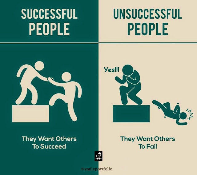 Successful People, Unsuccessful People, life lessons, want others to succeed