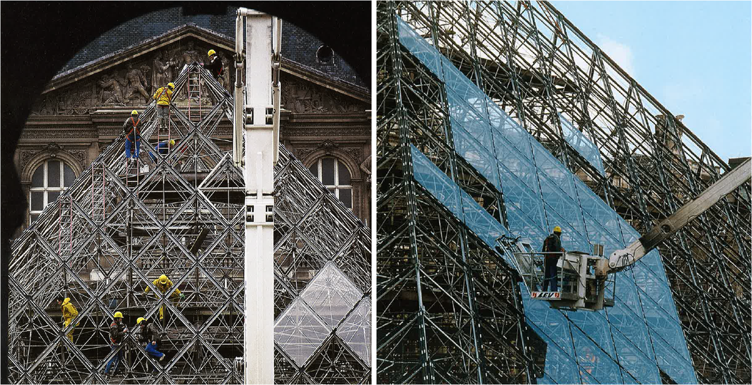 Fa ades confidential the louvre pyramids revisited - Construction of the louvre ...