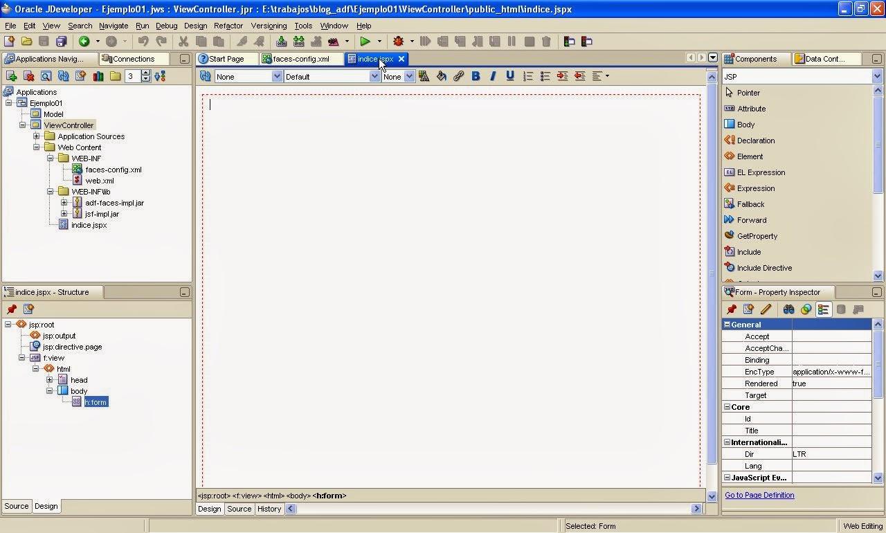 vista de design de jspx