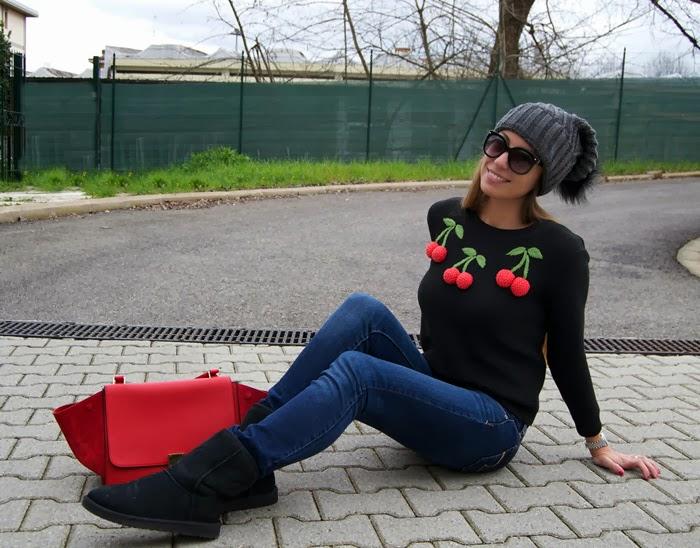 maglione ciliegie