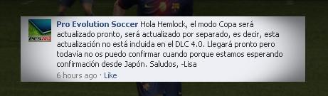 Konami comenta que atualização da Libertadores chegará em breve ao PES 2013