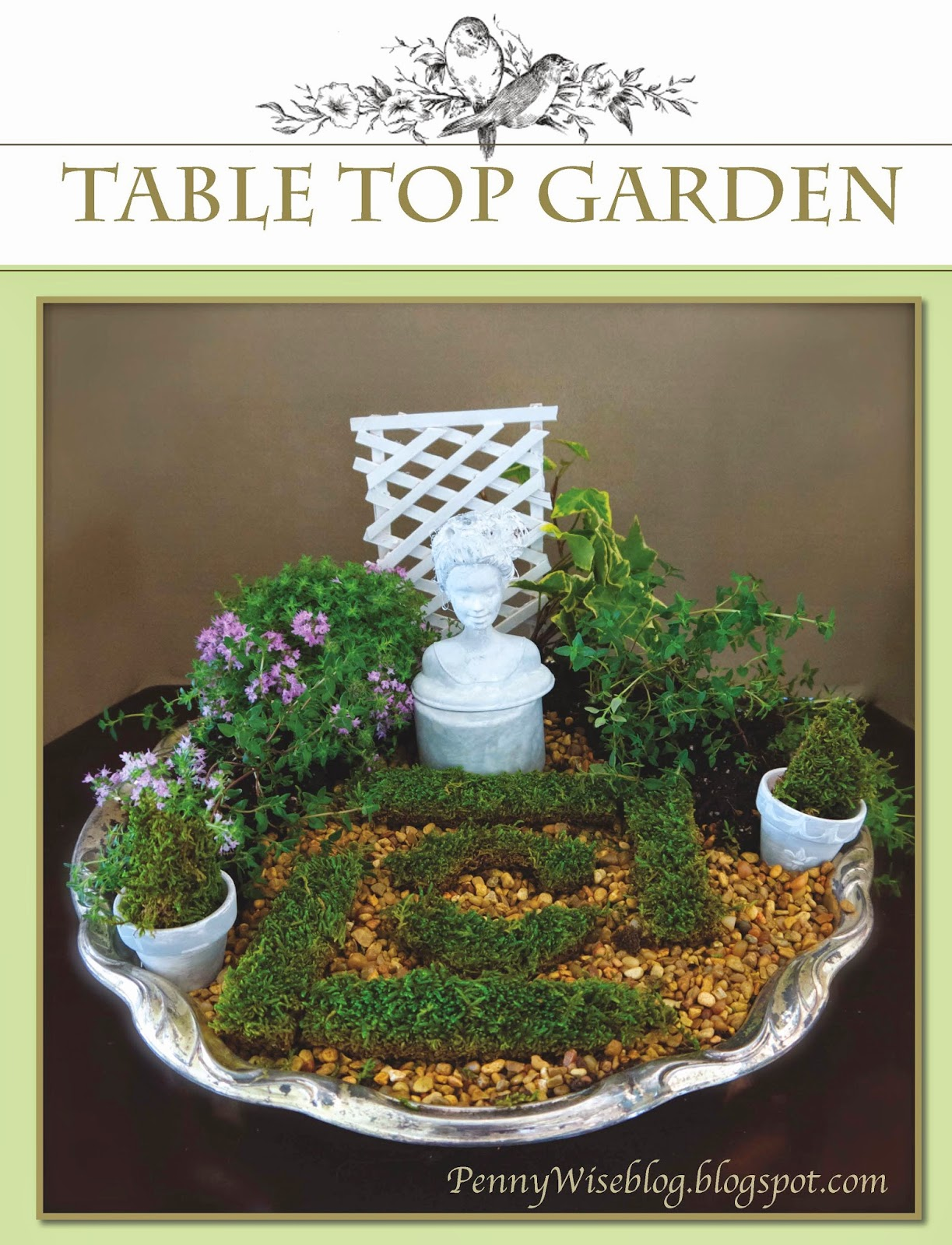 PennyWise: Tabletop Formal Fairy Garden